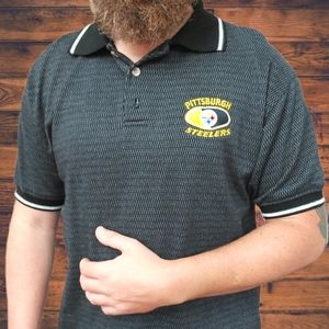 🔥VTG 90's Pittsburgh Steelers Waffle Knit Polo🔥